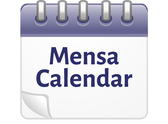 Northern Nevada MENSA Calendar of Events